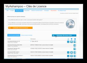 Clés de licence ashampoo